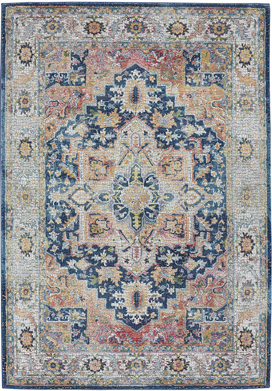 nourison ankara global blue rug