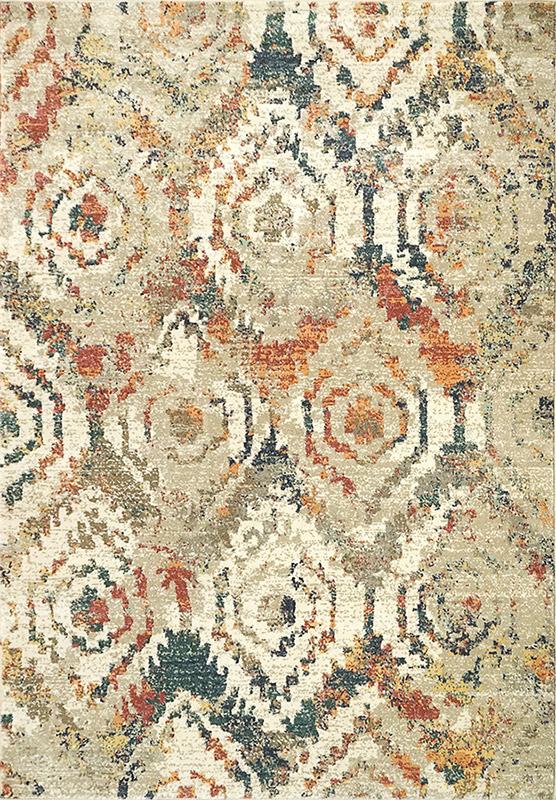 dynamic lydia beige multi rug